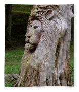 Lion Tree Fleece Blanket