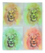 Lion X 4  Fleece Blanket