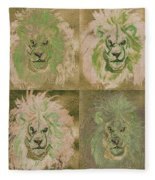 Lion X 4 One Fleece Blanket
