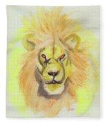 Lion Yellow Fleece Blanket
