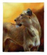Lioness Is Near Fleece Blanket