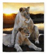 Lioness Protector Fleece Blanket
