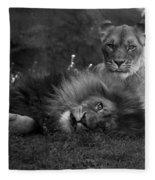 Lions Me And My Guy Fleece Blanket