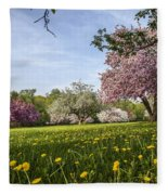 Lions Of The Lawn Fleece Blanket