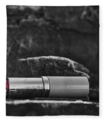 Lipstick - Bw  Fleece Blanket