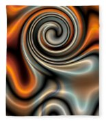 Liquid Mercury And Rust 2 Fleece Blanket