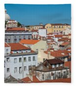 Lisbon Alfama District Fleece Blanket