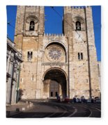 Lisbon Cathedral In Portugal Fleece Blanket