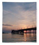 Listen To The Waves Fleece Blanket