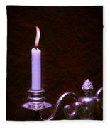 Lit Candle Fleece Blanket