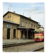 Lithuania. Silute Train Station. 2008 Fleece Blanket