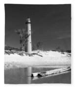 Litle Sable Light Station - Film Scan Fleece Blanket
