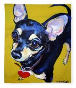 Little Bitty Chihuahua Fleece Blanket