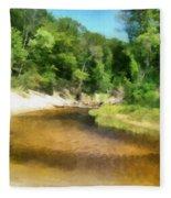 Little Black Creek - Hoffmaster State Park Fleece Blanket