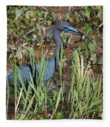Little Blue Heron 3 Fleece Blanket