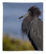 Little Blue Heron Fleece Blanket