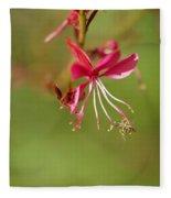 Little Bug On The Tip Of A Flower Fleece Blanket