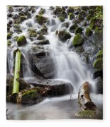 Little Cascade In Marlay Park Dublin Fleece Blanket