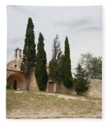 Little Chapel On A Hill Fleece Blanket