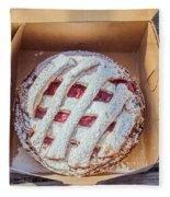 Little Cherry Pie Fleece Blanket