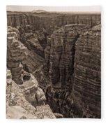 Little Colorado River Overlook Fleece Blanket