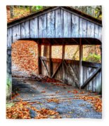Little Covered Bridge II Fleece Blanket