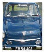 Little Cute  Blue Vintage Princess Austin Car  Fleece Blanket