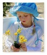 Little Girl Blue  Fleece Blanket