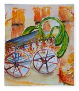 Little Harvest Wagon Fleece Blanket