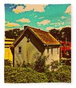 Little House - The World Around New York City Fleece Blanket