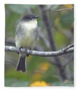 Little Lady Eastern Kingbird Fleece Blanket