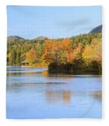 Little Long Pond And Bubbles Mount Desert Island Maine Fleece Blanket