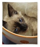 Little Miss Blue Eyes Fleece Blanket