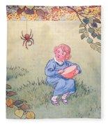 Little Miss Muffet Fleece Blanket
