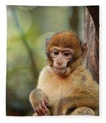 Little Monkey Fleece Blanket
