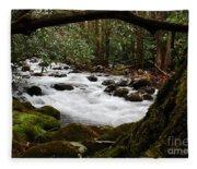 Little Pigeon River In The Smokies Fleece Blanket
