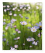 Little Pink Daisies  Fleece Blanket