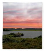 Little Pond Near The Ocean Panorama Fleece Blanket