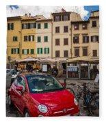 Little Red Fiat Fleece Blanket