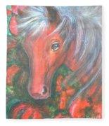 Little Red Horse Fleece Blanket
