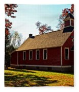 Little Red School House Fleece Blanket