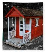 Little Red School House Fleece Blanket