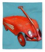 Little Red Wagon Fleece Blanket