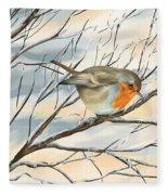 Little Robin Fleece Blanket