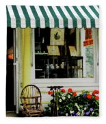 Little Rocking Chair By Antique Store Fleece Blanket