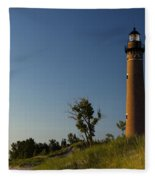 Little Sable Lighthouse By Silver Lake Michigan No.557 Fleece Blanket