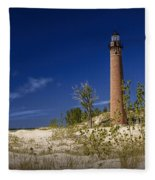 Little Sable Point Light No.0285 Fleece Blanket