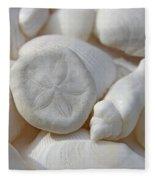 Little Sand Dollar And Seashells Fleece Blanket