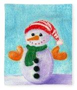 Little Snowman Fleece Blanket