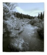 Little Spokane River Beauty Fleece Blanket